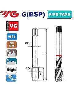 G3/8 -19 sriegiklis HSS-E, DIN 5156, R40, VG, mašininis, YG
