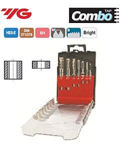 Mašininių sriegiklių rinkinys, kiaurai kiaurymei, HSS-E DIN371/376, M3, M4, M5, M6, M8, M10, M12, Combo, YG