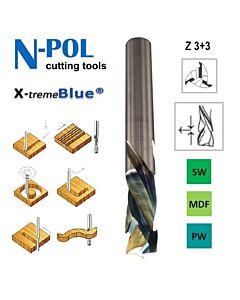 12mm,  I-35, d-12, L-80, Z3+3, Kietmetalio freza, kelianti-spaudžianti, medienos frezavimui, X- treme Blue danga, V803.120.035.080XB