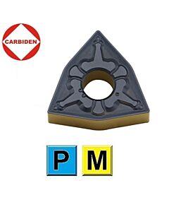 WNMG080412-TM HS8125, Plokštelė kietmetalinė su dviguba danga, skirta plienui vidutiniam darbui, CARBIDEN
