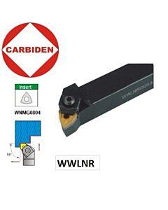 25x25mm, WWLNR Tekinimo laikiklis WNMG0804 plokštelėms,  WWLNR2525M08