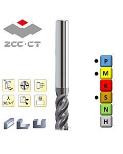 4mm 11 x 50 x 6, Z4, Freza plienui, nerūdijančiam plienui ir titanui, VSM-4E-D4.0 KMG405